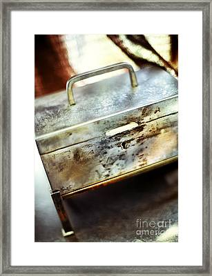 Silver Box Framed Print by HD Connelly