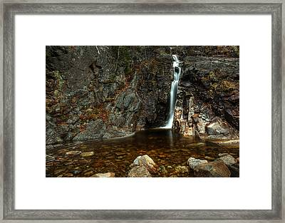 Silver Cascade Framed Print by Chris Babcock