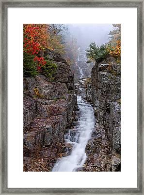 Silver Cascade Crawford Notch Nh Framed Print