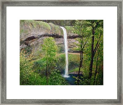Silver Creek Falls Framed Print by Kenny Henson