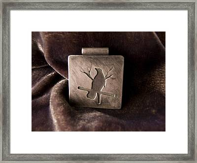 Silver Crow Framed Print