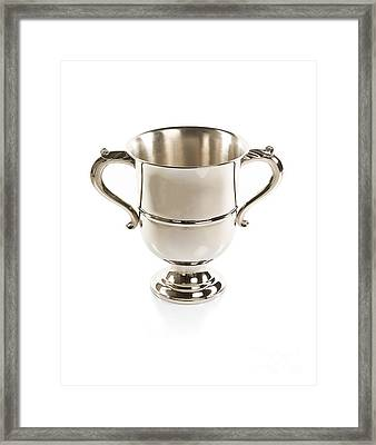 Silver Cup Isolated Framed Print by Nikita Buida