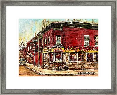 Silver Dragon Mets Chinois Verdun Resto Montreal Paintings Authentic Original Verdun Art Cspandau  Framed Print
