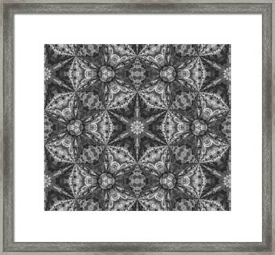 Silver Dreams Abstract Design Framed Print
