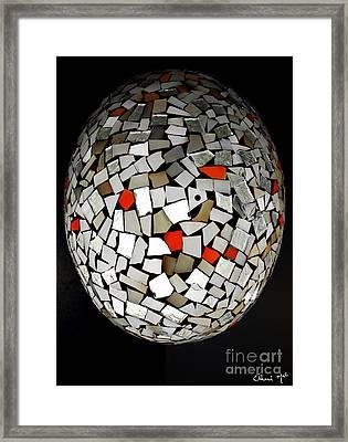 Silver Egg Framed Print
