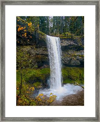 Silver Falls - South Falls Framed Print