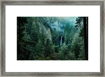 Framed Print featuring the photograph Silver Falls State Park by Brian Bonham