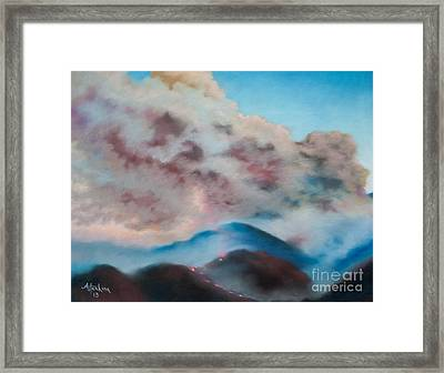 Silver Fire Framed Print