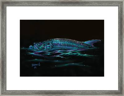 Silver Flash Framed Print