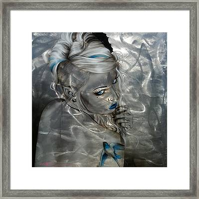 Portrait - ' Silver Flight ' Framed Print by Christian Chapman Art