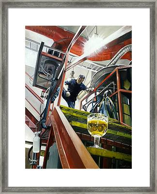 Silver Gulch Composition In Primary Framed Print by Gregg Hinlicky