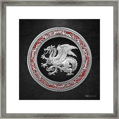 Silver Icelandic Dragon  Framed Print
