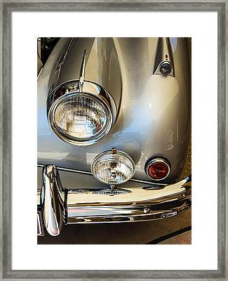 Silver Jaguar Xk 140 Framed Print by SM Shahrokni