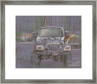 Silver Jeep Framed Print
