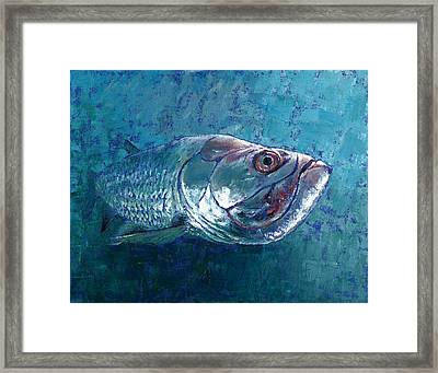 Framed Print featuring the painting Silver King Tarpon by Pam Talley