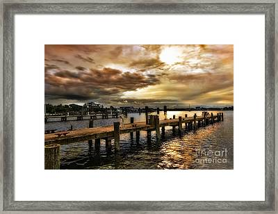 Silver Lake Harbor Framed Print by Dan Carmichael