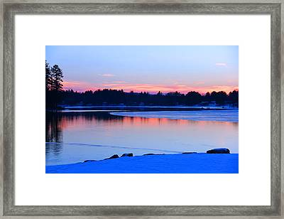 Silver Lake In The Evening Framed Print