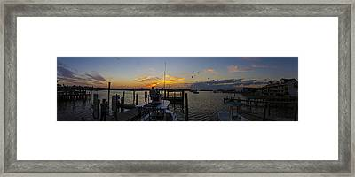 Silver Lake Sunset Panorama Framed Print