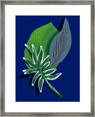 Framed Print featuring the digital art Silver Leaf And Fern I by Christine Fournier