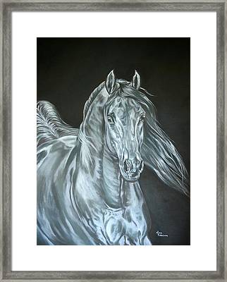 Framed Print featuring the painting Silver by Leena Pekkalainen