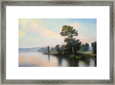 Silver Light Framed Print by Keith Gunderson