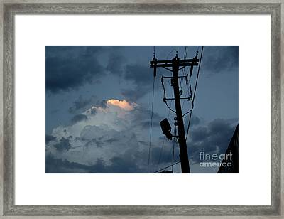 Silver Lining Framed Print by A K Dayton