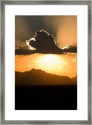 Framed Print featuring the photograph Silver Lining by Brad Brizek