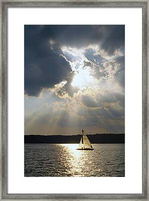 Silver Lining - Lake Geneva Wisconsin Framed Print