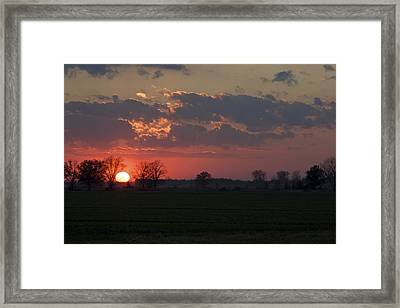 Framed Print featuring the photograph Silver Lining - Red Sunset Art Print by Jane Eleanor Nicholas