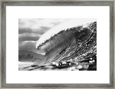 Silver Lining Framed Print by Sean Davey