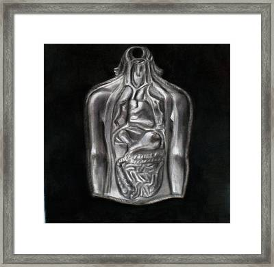 Silver Milagro Framed Print by Paez  ANTONIO