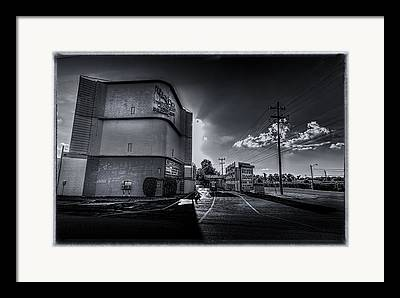 Silver Moon Drive In Framed Prints