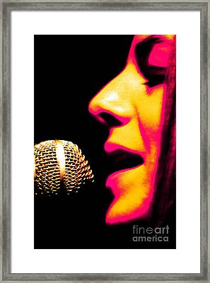 Framed Print featuring the photograph Silver N Pink by Jesse Ciazza