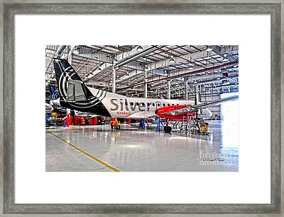 Silver N34 Framed Print by Diane E Berry