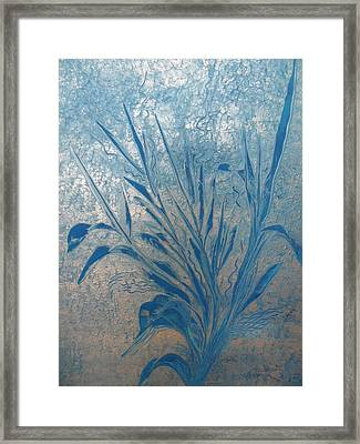 Framed Print featuring the painting Silver by Nico Bielow