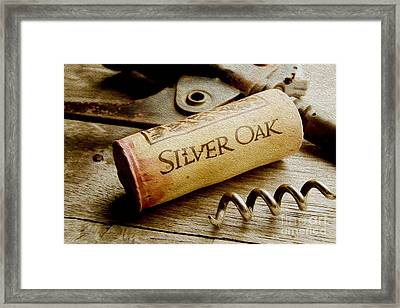Silver Oak Cork Painting Framed Print by Jon Neidert