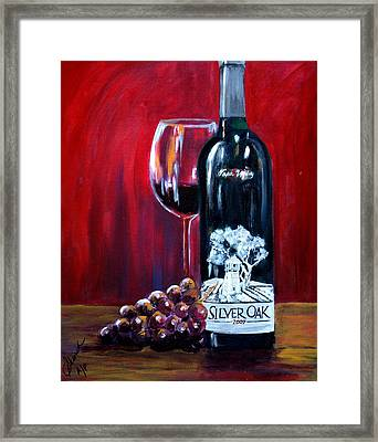 Silver Oak Of Napa Valley And Grape Framed Print