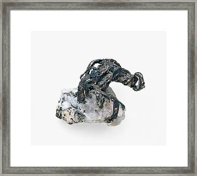 Silver Ore And Quartz Framed Print by Dorling Kindersley/uig