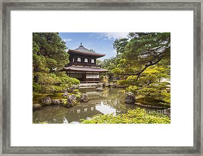 Silver Pavilion Kyoto Japan Framed Print