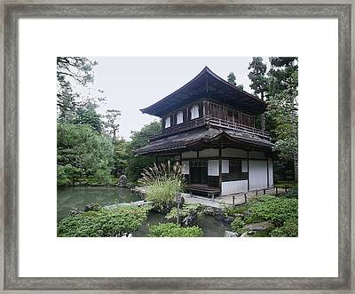 Silver Pavilion - Kyoto Japan Framed Print by Daniel Hagerman