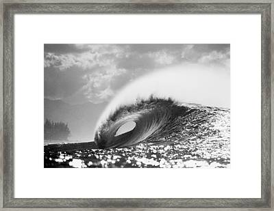 Silver Peak Framed Print by Sean Davey