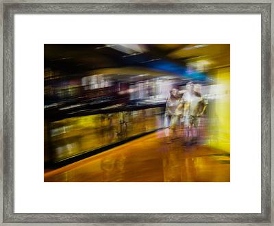 Framed Print featuring the photograph Silver People In A Golden World by Alex Lapidus