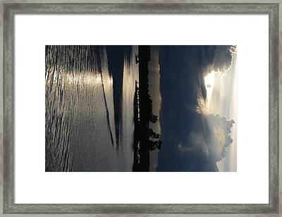 Silver Reflections Framed Print by Adam Panek