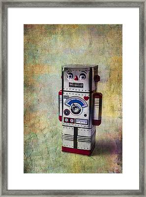 Silver Robot Framed Print by Garry Gay