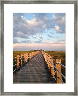 Silver Sands Beach At Sunset Framed Print