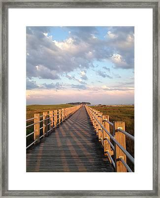 Silver Sands Beach At Sunset Framed Print