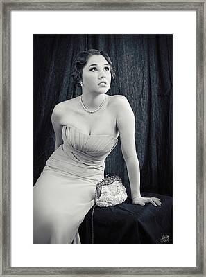 Silver Screen Starlet Framed Print