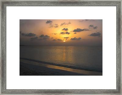 Silver Sea Framed Print by Stephen Anderson