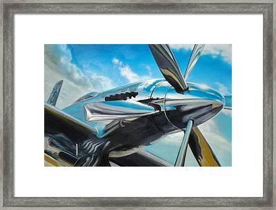 Silver Sky Plough Framed Print by Riek  Jonker