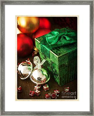 Silver Sleigh Bells Framed Print by Edward Fielding